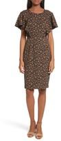 Tracy Reese Women's Flounce Sleeve Sheath Dress
