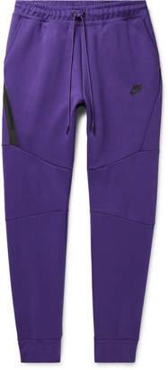 Nike Sportswear Slim-Fit Tapered Cotton-Blend Tech Fleece Sweatpants