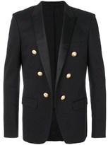 Balmain Men's Black Cotton Blazer.