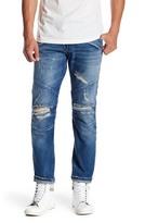 Pierre Balmain Distressed Moto Skinny Jeans