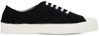 Comme des Garcons Spalwart Cotton Velvet Low-top Sneakers