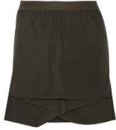 Rick Owens Lotus layered satin-twill shorts