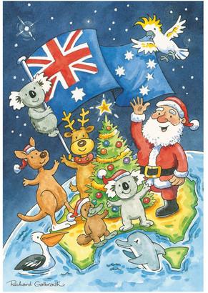 Simson Galbraith Australiana Boxed Christmas Cards, Multiple Designs - 12