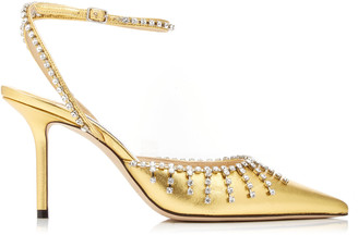 Jimmy Choo Moda Exclusive Tatiara Crystal-Embellished Ankle-Strap Pump