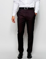 French Connection Plain Tonic Suit Trouser - Red