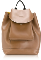 Marni Gold Brown Leather Kit Backpack