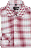 Barneys New York Men's Checked Cotton Dress Shirt-Burgundy
