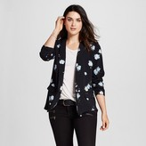 Mossimo Women's Floral Print Ruched Sleeve Blazer