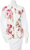 Giambattista Valli Silk Floral Button-Up Top w/ Tags