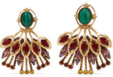 Elizabeth Cole Hannalee Gold-Tone, Stone And Swarovski Crystal Earrings