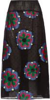 Suno Fil coupé silk-blend chiffon skirt