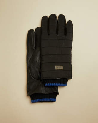 Ted Baker BUMMP Leather detail gloves