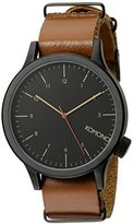 Komono Unisex KOM-W1901 Magnus Analog Display Japanese Quartz Brown Watch