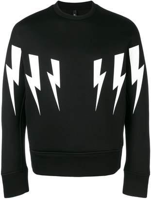 Neil Barrett oversized Thunder print sweatshirt