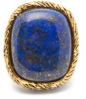 Aurelie Bidermann Miki Lapis And 18kt Gold-plated Brass Ring - Womens - Blue Gold