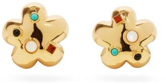 Lizzie Fortunato Daisy Gold-plated Clip Earrings - Gold