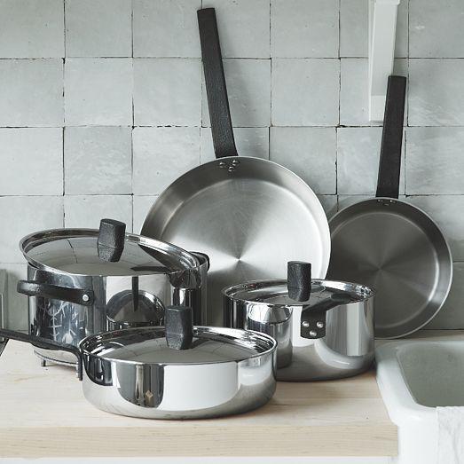 west elm Greenpan® Tri-Ply Stainless Steel 10-Piece Set