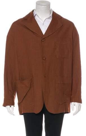 Dolce & Gabbana Linen Deconstructed Blazer
