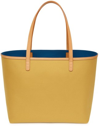 Mansur Gavriel Heavy Canvas Shopping Tote - Mustard/Royal