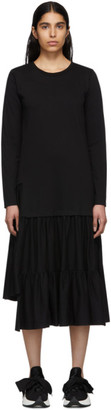 MM6 MAISON MARGIELA Black Jersey Tiered Ruffled Dress