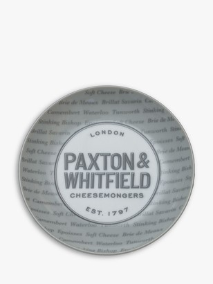 Paxton and Whitfield Cheese Plates, Set of 4, 16cm, White/Grey