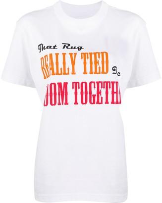 Sacai script print T-shirt
