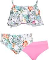 River Island Girls White floral shelf bikini set