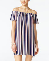 Ultra Flirt Juniors' Striped Necklace Shift Dress