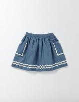 Boden Twirly Nautical Skirt