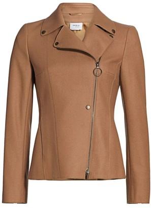 Akris Punto Stretch-Wool Biker Jacket