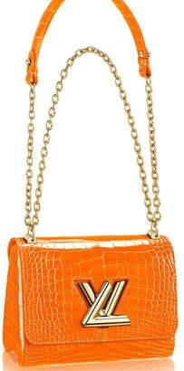 Louis Vuitton Twist Crocodile Brillant Gold-tone PM Topaze Imperiale
