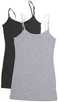 Zenana Women's Tank Top Cami Built in Bra and Adj Straps