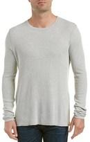 Michael Stars Linen-trim Crewneck Sweater.