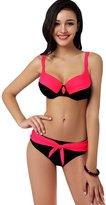 New step Newstep Women's Plus size Push up Bralette Bikini Swimsuit ( XL)