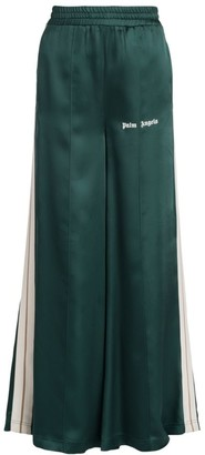 Palm Angels Satin Wide-Leg Track Pants