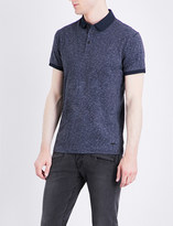 HUGO BOSS Slim-fit marl-print cotton-jersey polo shirt