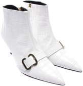 Erdem White Leather Ankle boots