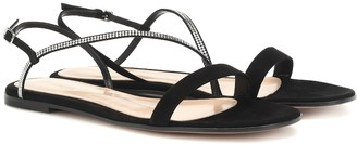 Gianvito Rossi Exclusive to Mytheresa Manhattan embellished suede sandals