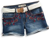 GUESS Embroidered Denim Shorts (2-6x)