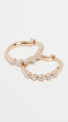 Adina 14k Diamond Huggie Earrings