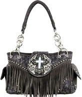MONTANA WEST Montana West Faith Turquoise Cross Shoulder Bag