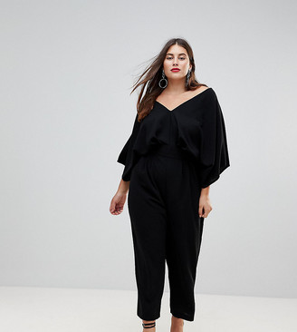 Asos DESIGN Curve jumpsuit with kimono sleeve and peg leg