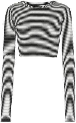 Marc Jacobs Striped jersey cropped top