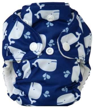 Piriuki Mini Newborn Reusable Cloth Diaper (Blue/White)