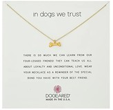 Dogeared In Dogs We Trust, Dog Bone Necklace (Gold Dipped) Necklace
