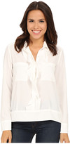 KUT from the Kloth Adriana Ruffle Front Button Down