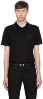 Saint Laurent Black Logo Polo