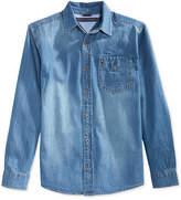 Tommy Hilfiger Boys' Long-Sleeve Max Denim Shirt