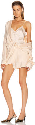 Alexander Wang Draped Pajama Romper in Peach | FWRD