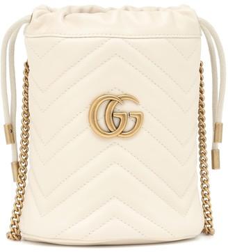 Gucci GG Marmont Mini leather bucket bag